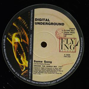 Single Cover Digital Underground - Same Song