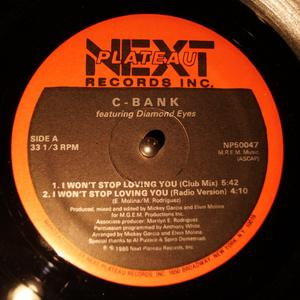 Single Cover C-bank - I Won't Stop Loving You