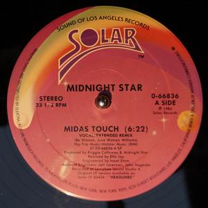 Single Cover Midnight Star - Midas Touch