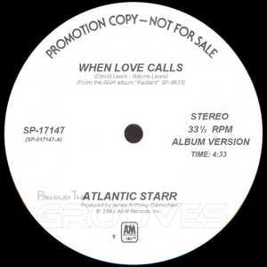Single Cover Atlantic Starr - When Love Calls