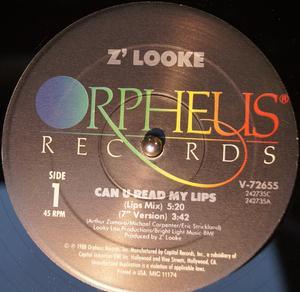 Single Cover Z'looke - Can U Read My Lips