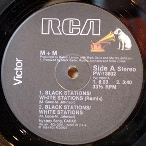 Single Cover M & M - Black Stations White Stations