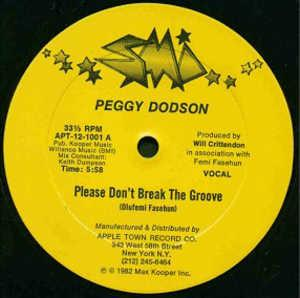 Single Cover Peggy - Please Don't Break The Groove Dodson