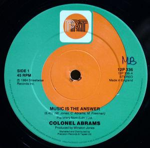 Single Cover Colonel - Music Is The Answer Abrams
