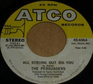 Single Cover The - All Strung Out On You Persuaders