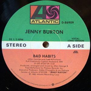 Single Cover Jenny - Bad Habits Burton