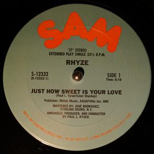 Single Cover Rhyze - Just How Sweet Is Your Love