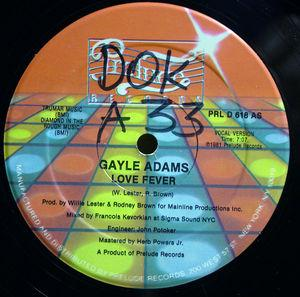 Single Cover Gayle - Love Fever Adams