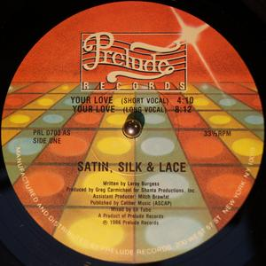 Single Cover Silk & Lace - Your Love Satin