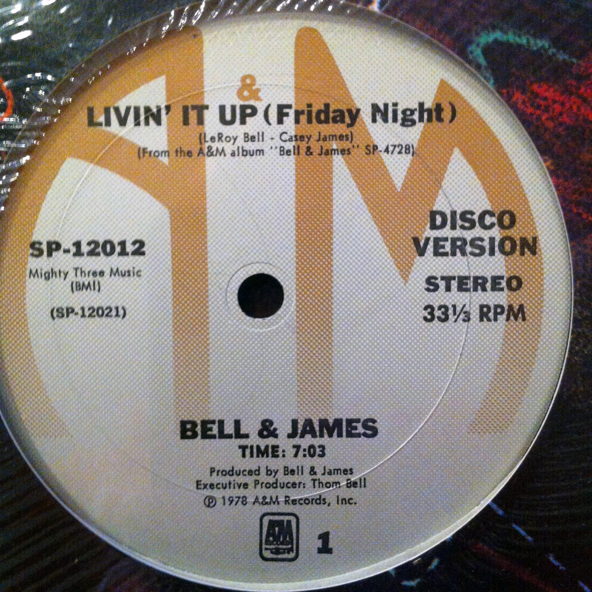 Single Cover Bell & James - Livin' It Up (friday Night)