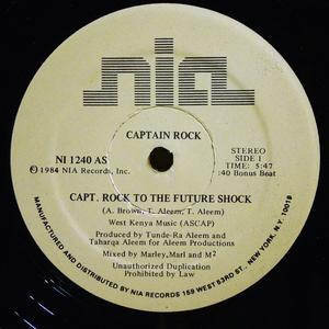 Single Cover Captain Rock - Captain Rock To The Future Shock