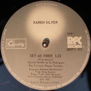 Single Cover Karen - Set Me Free Silver