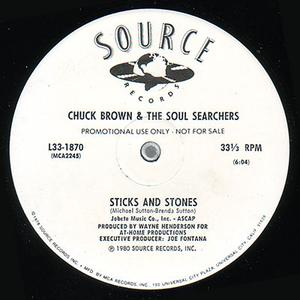 Single Cover Chuck Brown And The Soul Searchers - Sticks And Stones