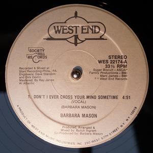 Single Cover Barbara - Don't I Ever Cross Your Mind Mason