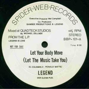 Single Cover Legend - Let Your Body Move (let The Music Take You)