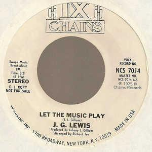 Single Cover J.g. - Let The Music Play Lewis