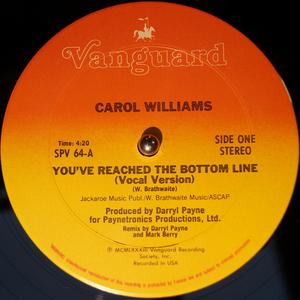 Single Cover Carol - You've Reached The Bottom Line Williams