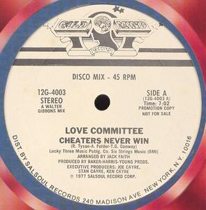 Single Cover Love Committee - Cheaters Never Win