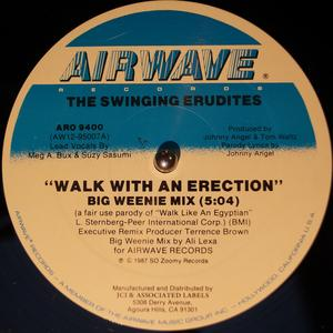 Single Cover The - Walk With An Erection Swinging Erudites