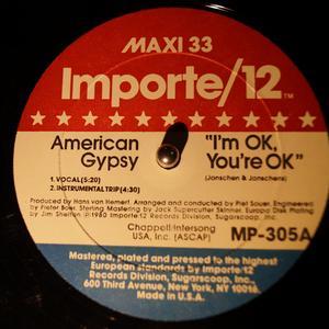 Single Cover You're Ok American Gypsy - I'm Ok