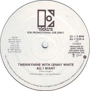 Single Cover Twennynine Featuring Lenny White - All I Want