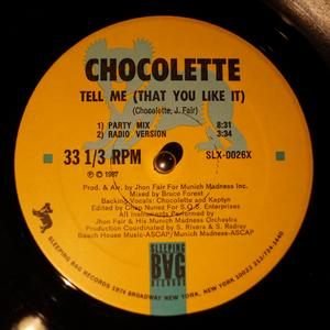 Single Cover Chocolette - Tell Me (that You Like It)