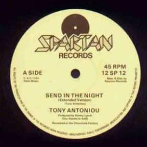 Single Cover Tony - Send In The Night Antoniou