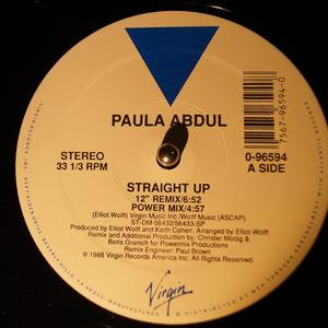 Single Cover Paula - Straight Up (kevin Saunders House Mix) Abdul