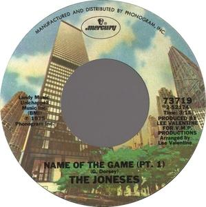 Single Cover The - Name Of The Game Joneses