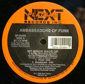 Single Cover Ambassadors Of Funk - My Minds Made Up