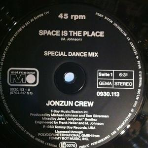 Single Cover Jonzun Crew - Space Is The Place