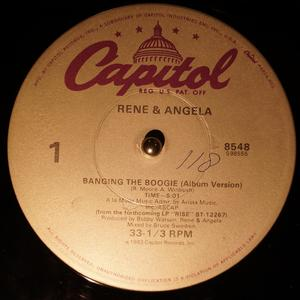 Single Cover René And Angela - Banging The Boogie