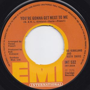 Single Cover Bo Kirkland - You're Gonna Get Next To Me
