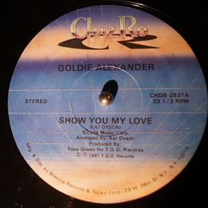 Single Cover Goldie - Show You My Love Alexander