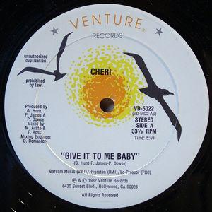 Single Cover Cheri - Give It To Me Baby