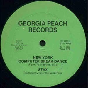 Single Cover Stax - New York Computer Break Dance