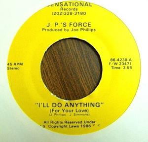 Single Cover J.p.'s Force - I'll Do Anything (for Your Love)