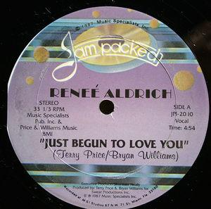 Single Cover Reneé - Just Begun To Love You Aldrich