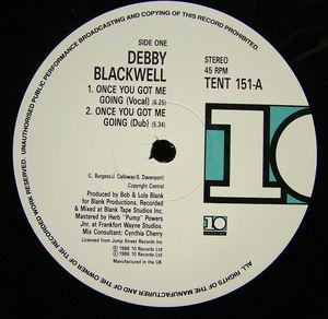 Single Cover Debby - Once You Got Me Going Blackwell