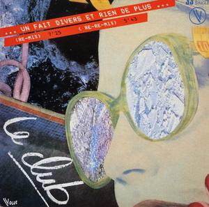 Single Cover Le Club - Un Fait Divers Et Rien De Plus