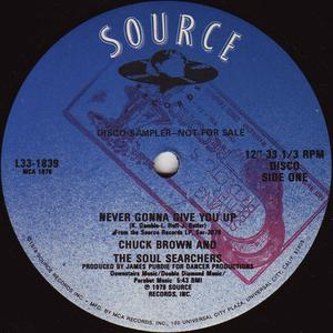 Single Cover Chuck Brown And The Soul Searchers - Never Gonna Give You Up