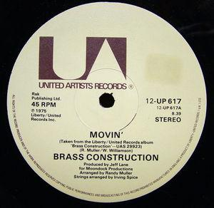 Single Cover Brass Construction - Movin'