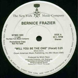 Single Cover Bernice - Will You Be The One Frazier