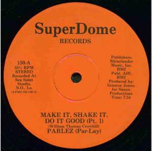 Single Cover Shake It Parlez (par-lay) - Make It