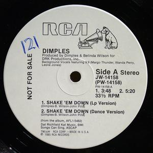 Single Cover Fields Richard - Shake 'em Down Dimples