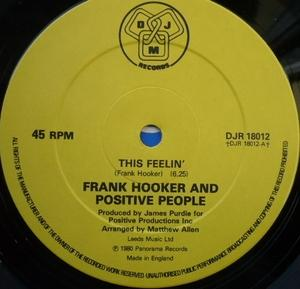 Single Cover Frank - This Feelin' Hooker & Positive People