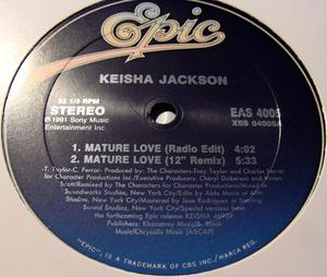 Single Cover Keisha - Mature Love Jackson