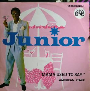 Single Cover Junior - Mama Used To Say (american Remix)