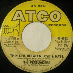Single Cover The - Thin Line Between Love & Hate Persuaders