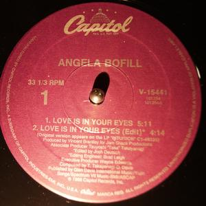 Single Cover Angela - Love Is In Your Eyes Bofill
